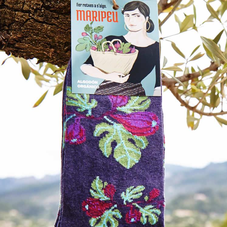 Maripeu Mallorca Baumwollsocken Feigenmotiv