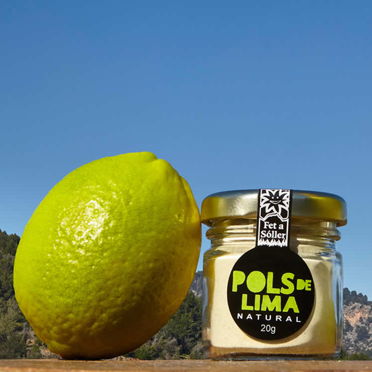 Pols finely milled lime peel 60g
