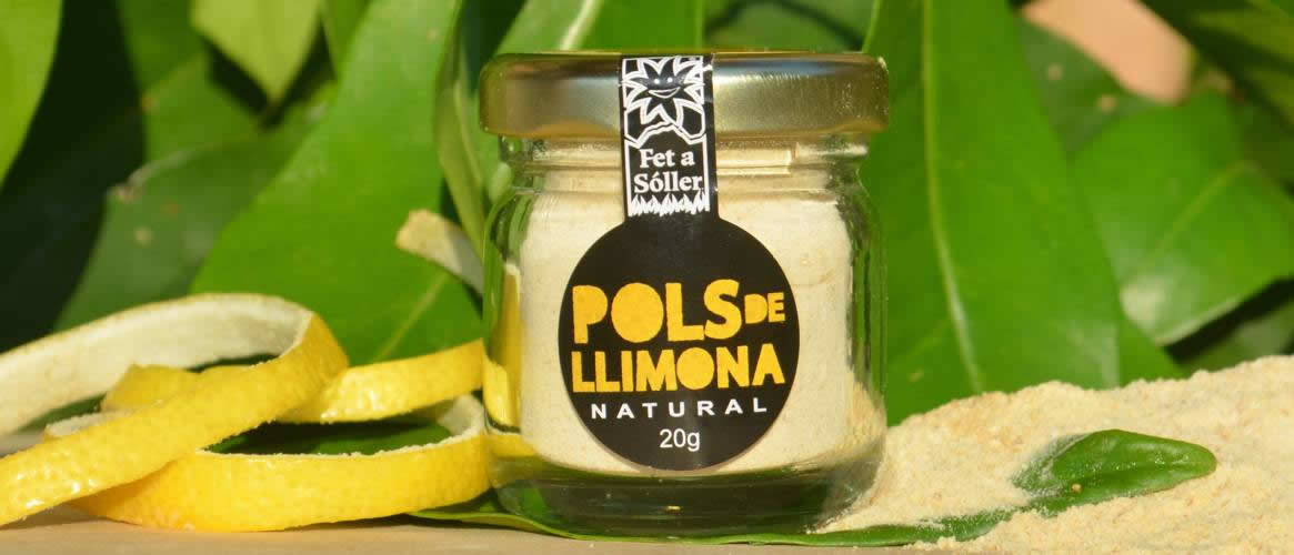 Pols finely milled lemon peel 60g