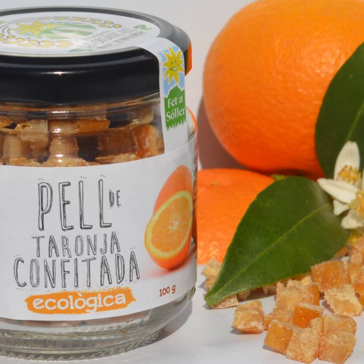 Candied organic orange peel