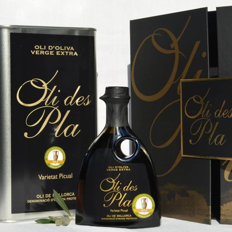 Oli des Pla olive oil Virgen extra D.O. gift box