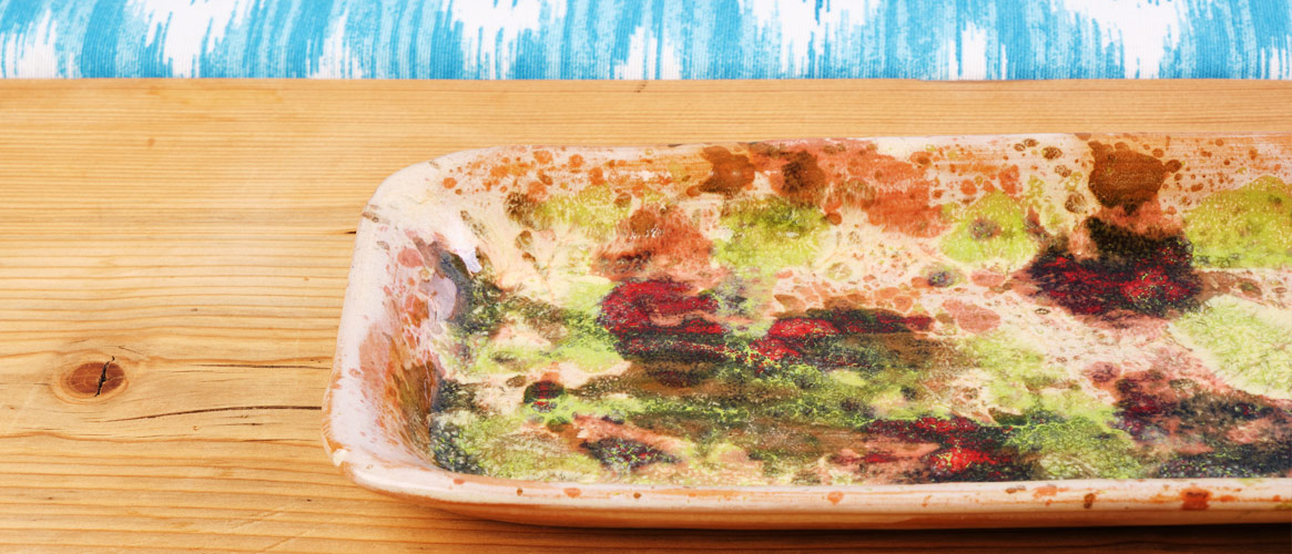 Olivenplatte  handgemachte Keramik
