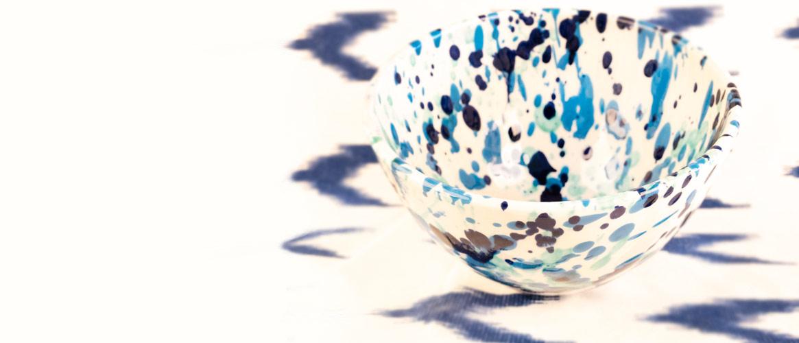 Bowl Keramikschüssel blau aus Mallorca 17cm