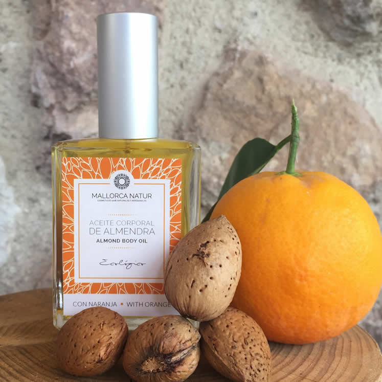 Organic Body Oil with Almond and Orange