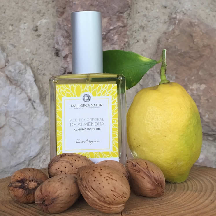 Organic Body Oil with Almond and Lemon