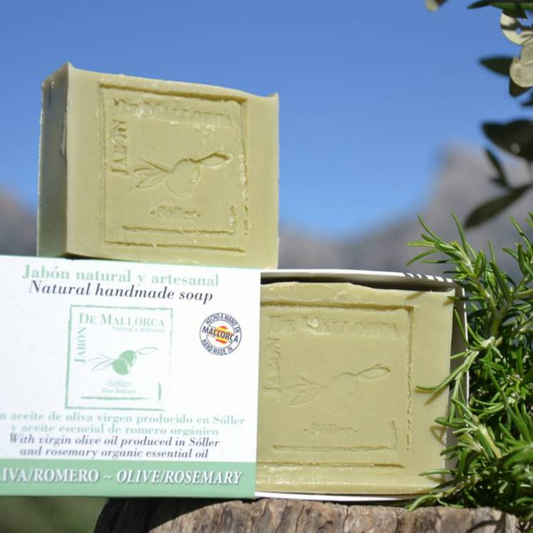 Jabón de Mallorca olive oil soap with rosemary