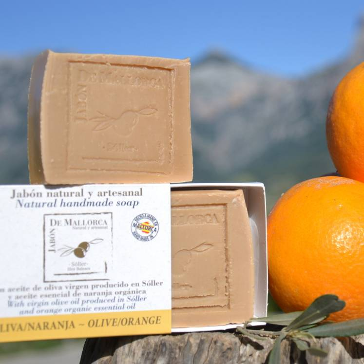 Jabón de Mallorca olive oil soap with orange
