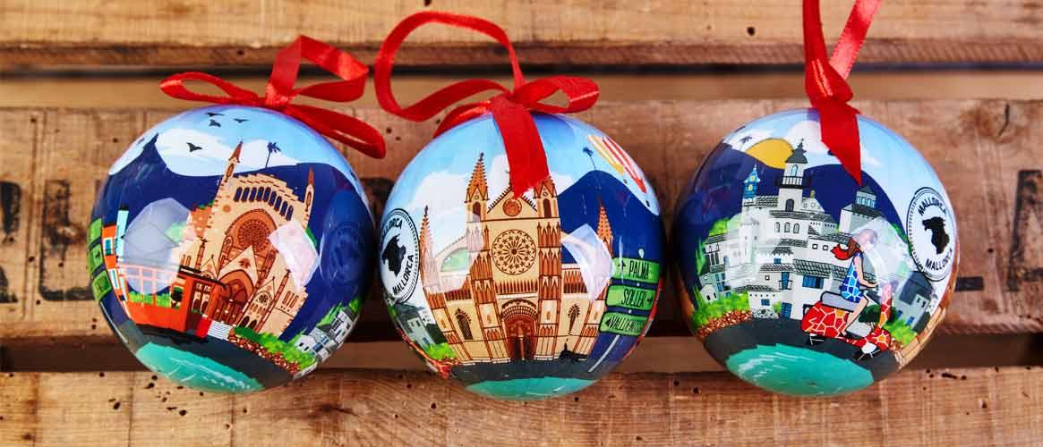 Weihnachtskugeln mit Sóller Motiven