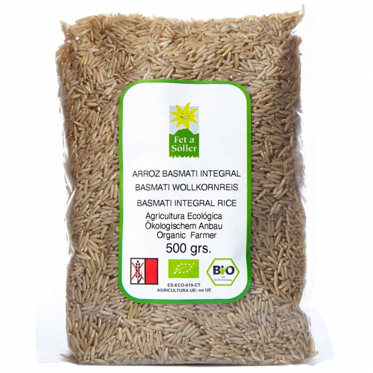 Organic wholegrain rice basmati