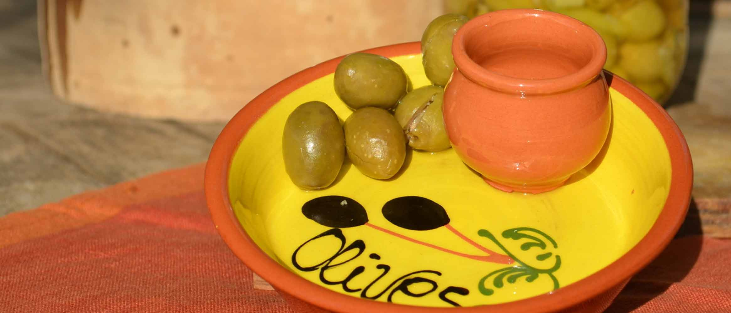 Keramik Olivenschale