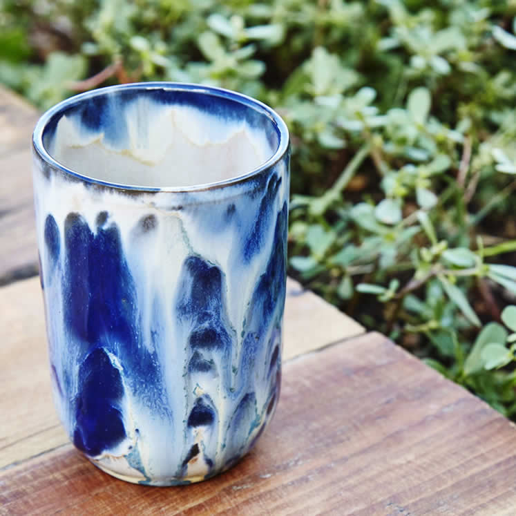 Estel Nou - Blue ceramic glass