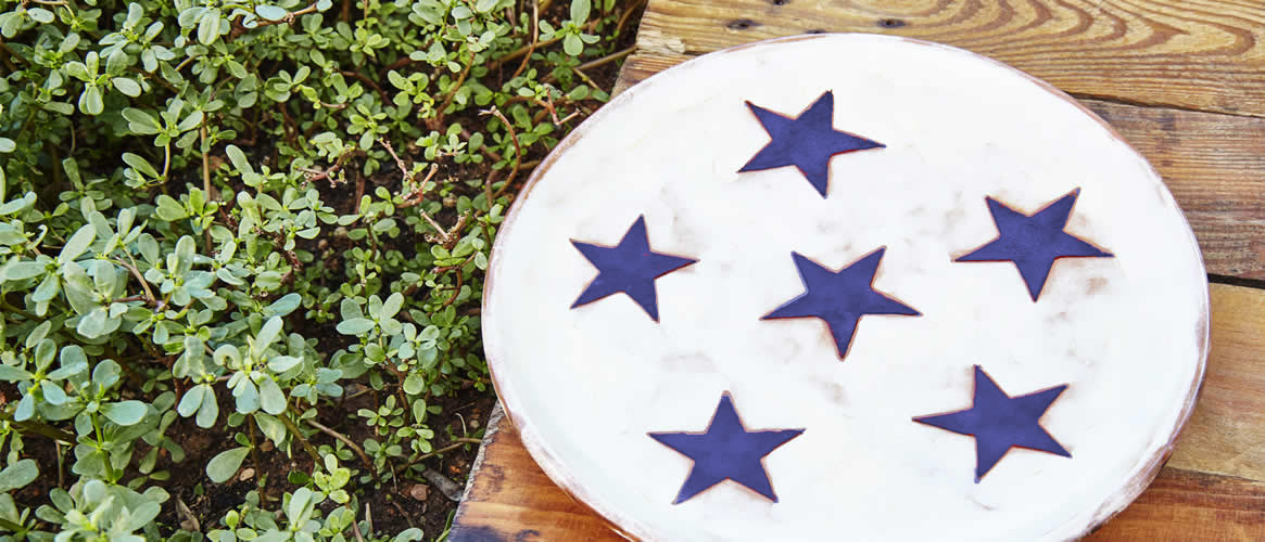 Estel Nou Keramikteller Stern 27cm blau