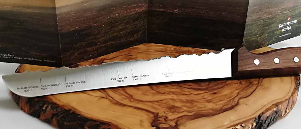 Serra de Tramuntana panorama knife