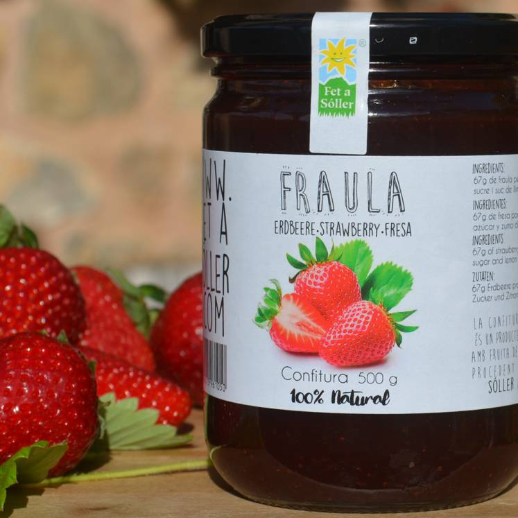 Strawberry jam Fet a Sóller 225g