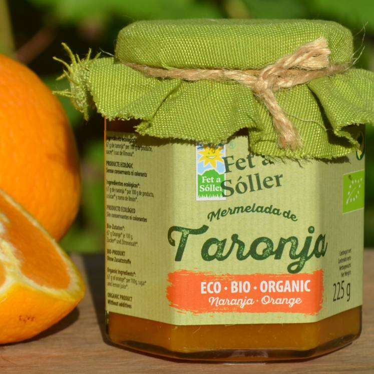Organic orange jam Fet a Sóller
