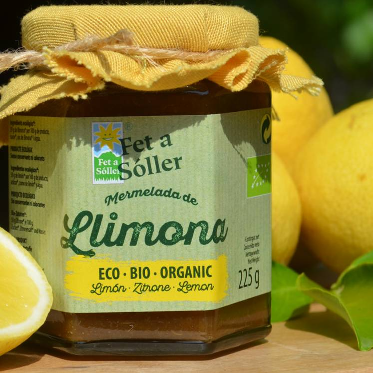 Bio Zitronenmarmelade Fet a Sóller