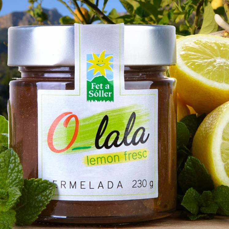 O-lala lemon jam with mint
