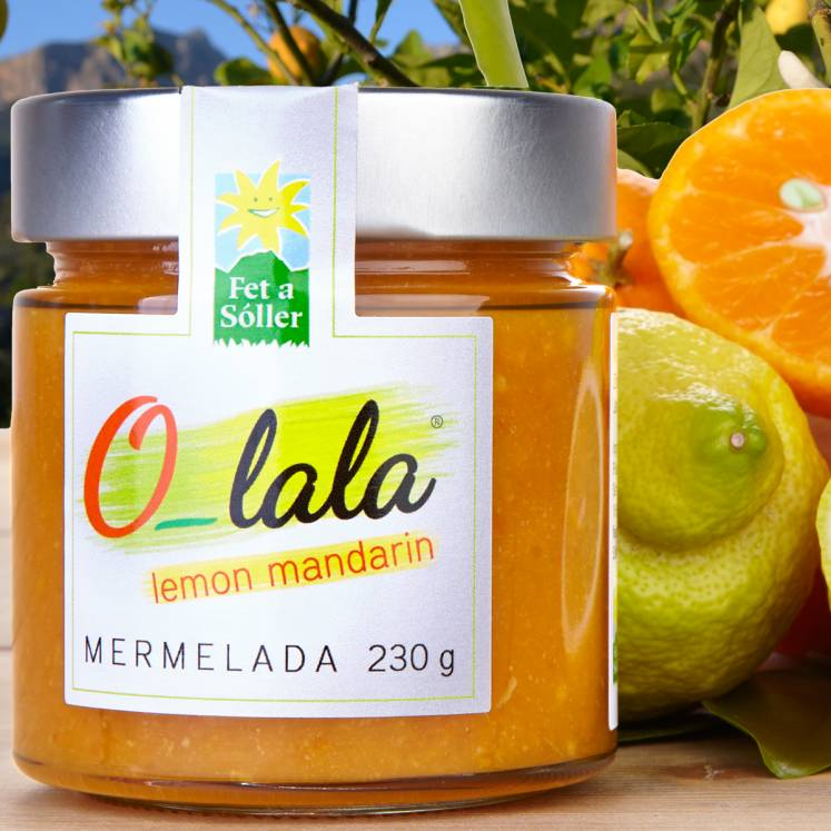 O-lala jam with ginger and mandarines