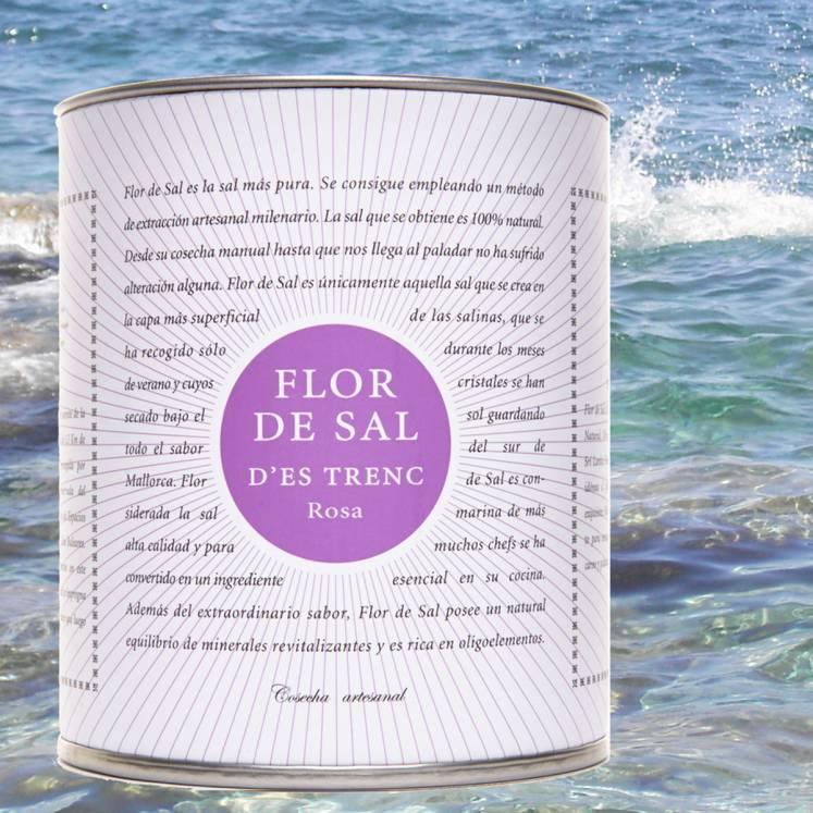Flor de Sal Salzblume Bio mit Rosenblättern und Pfeffer