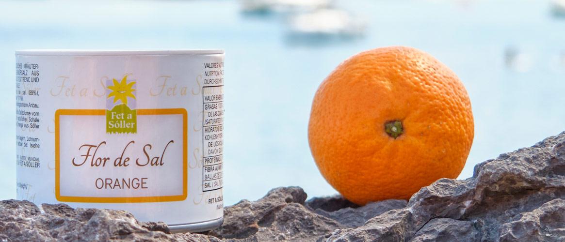 Fet a Sóller Flor de Sal Bio Salzblume mit Orange