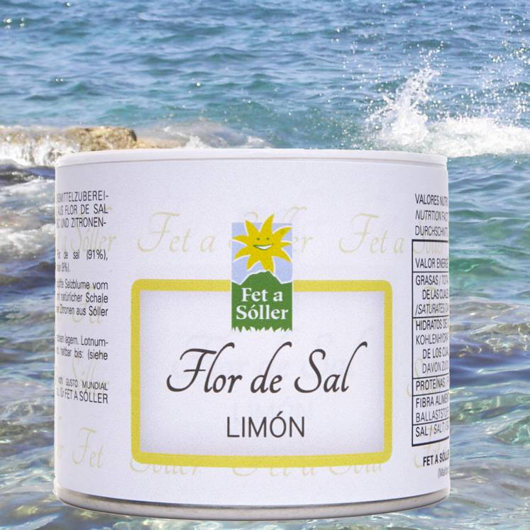 Fet a Sóller Flor de Sal Salzblume mit Zitrone