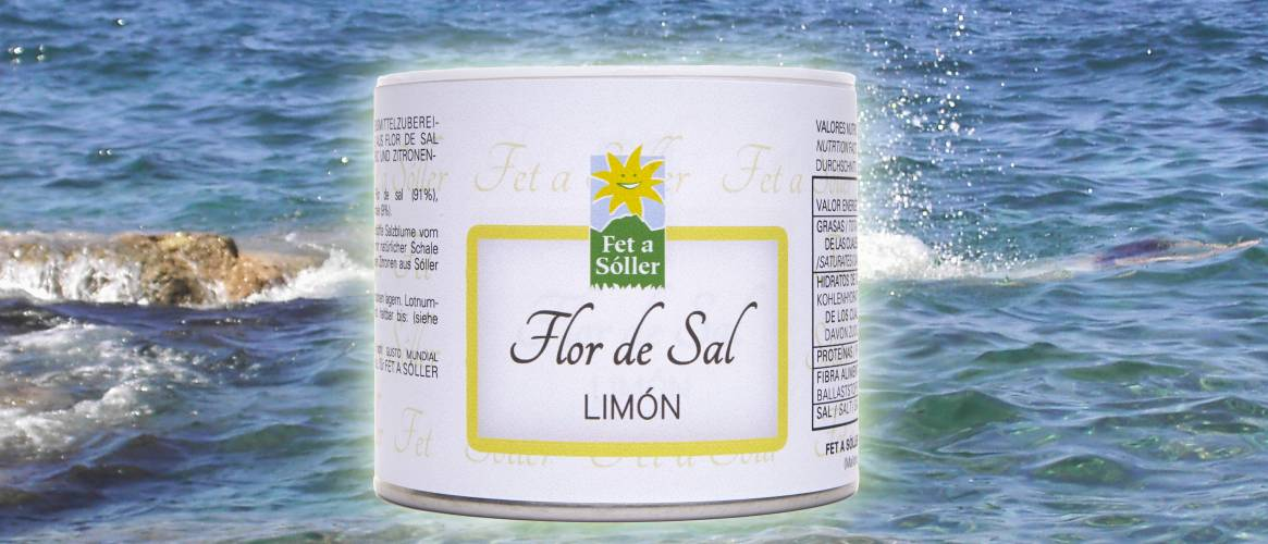 Fet a Sóller Flor de Sal salt flower with lemon