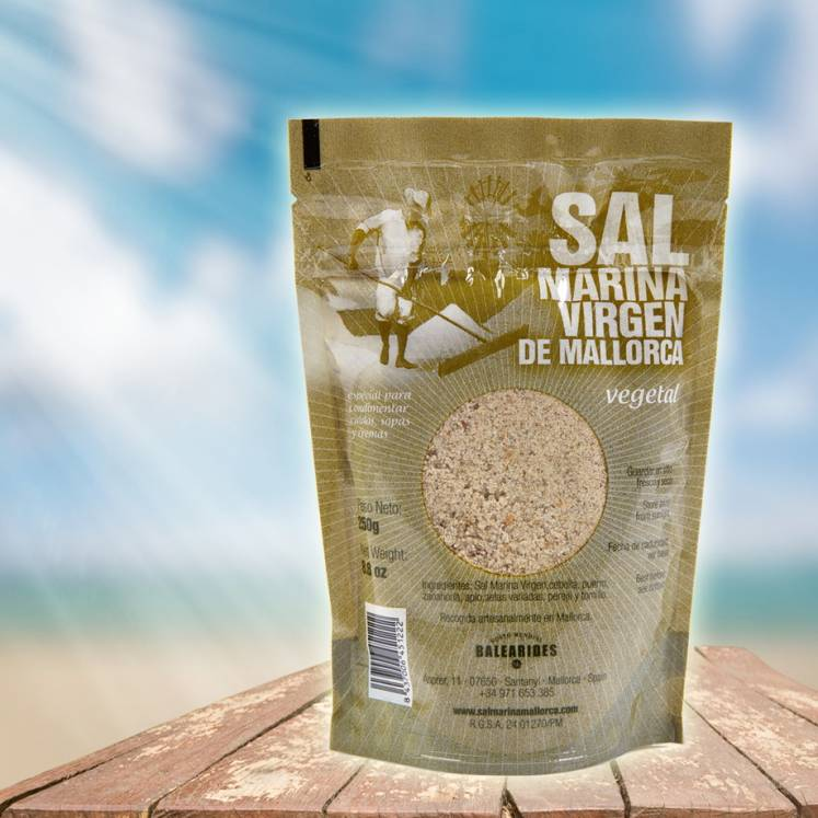 Sal Marina Virgen de Mallorca, organic sea salt herbs & vegetables, refill pack