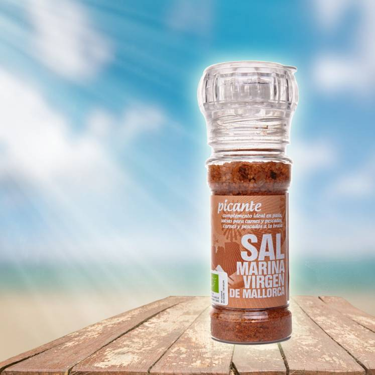 Sal Marina Virgen de Mallorca, mill with sea salt spicy