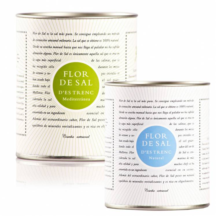 6 x of each Flor de Sal salt flower natural and mediterranean