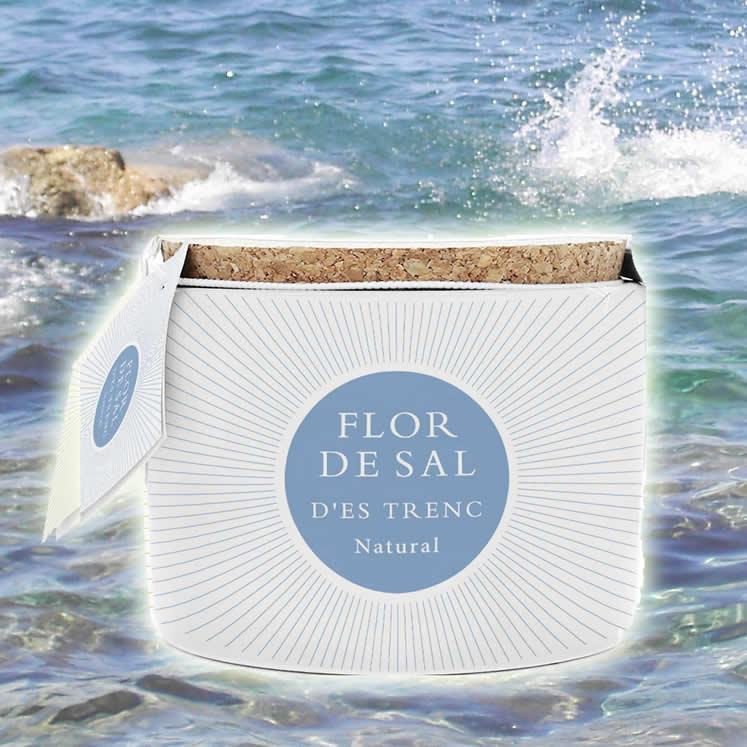 Flor de Sal Bio Salzblume natural 100g Keramiktopf mit Löffelchen