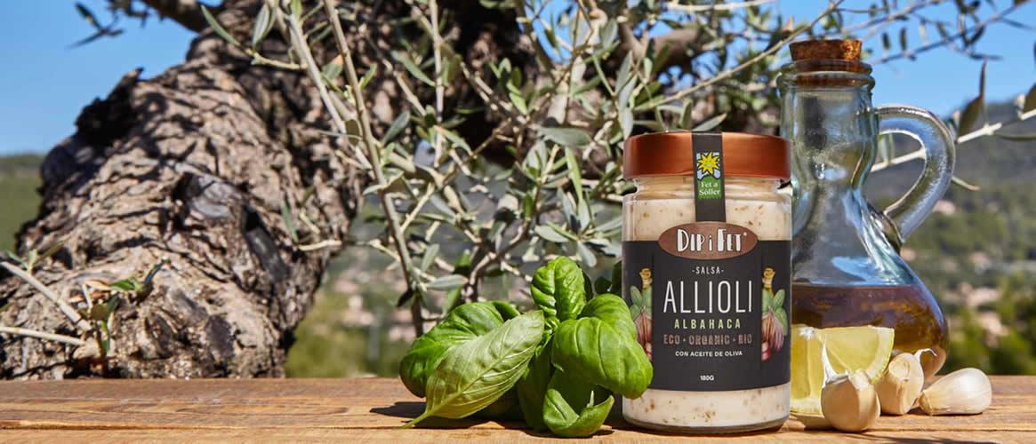 "Salsa ALLIOLI albahaca, Basil ""DIP I FET"" Organic, 180g"