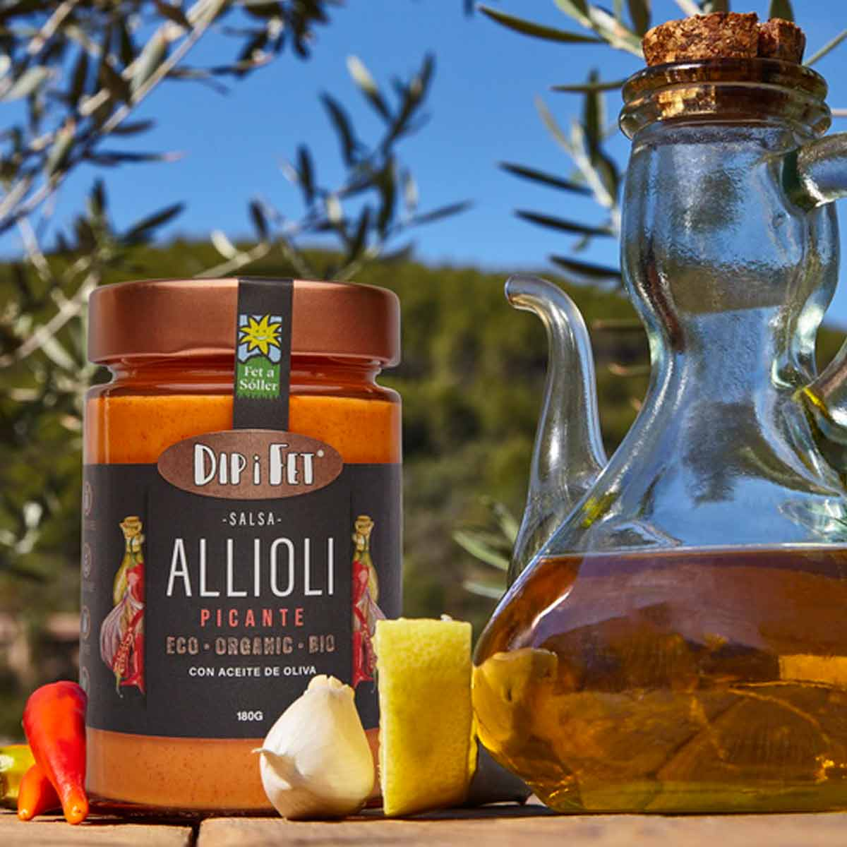 Dip i Fet Organic Allioli (Garlic Cream) spicy