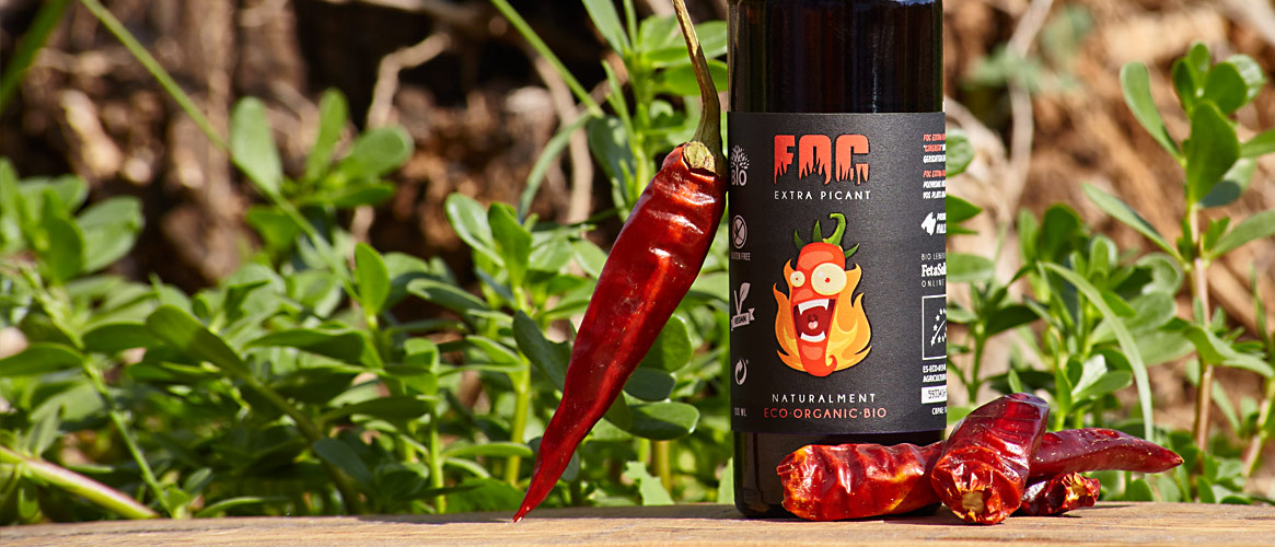 FOC Condiment spicy sauce from olive oil 100ml