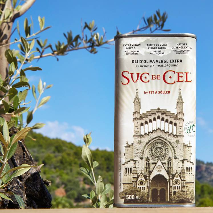 Suc de Cel, huile d'olive vierge extra D.O., Mallorquina , 500ml canette