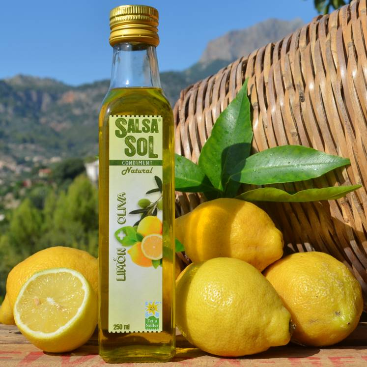 SalsaSol Limón natural Olive oil with lemon
