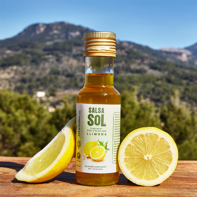 SalsaSol Limón Natural, olive oil with lemon 100ml