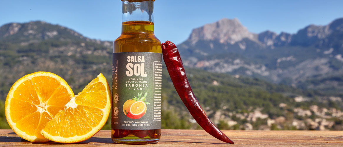 SalsaSol Orange picante, virgin olive oil with orange and chilli