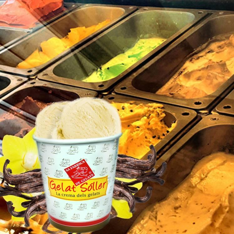 Eiscreme Vanille Geschmack Gourmet Gelat Sóller 2,5l