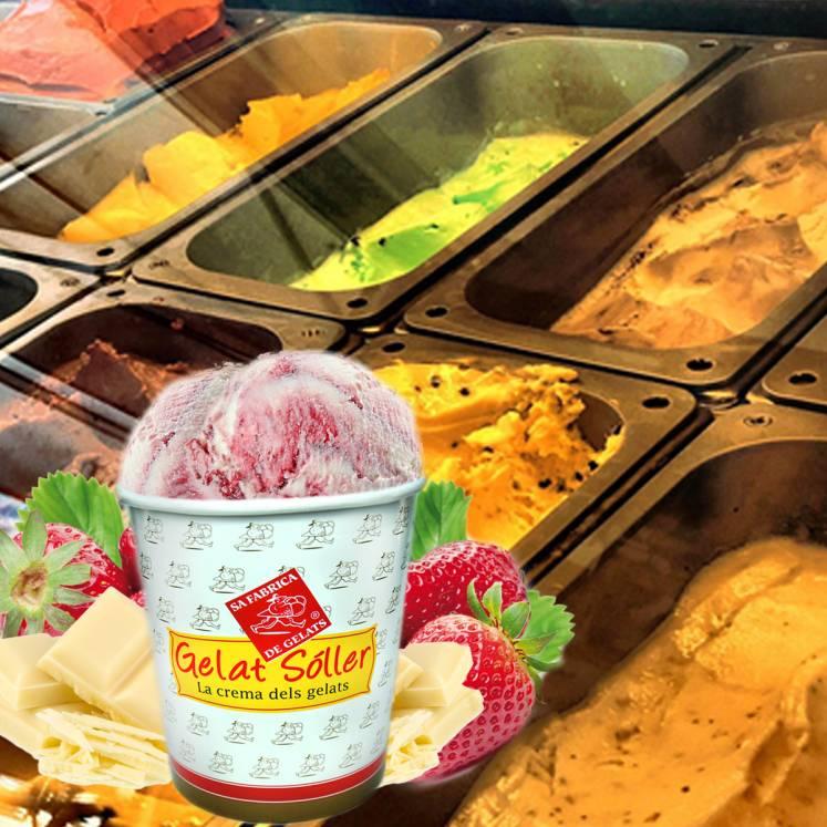 Eiscreme Weisse Schokolade Erdbeere 2,5l