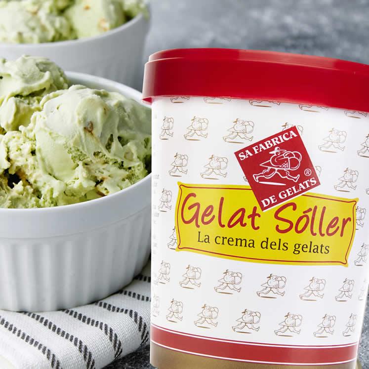 Gelat Sóller   Sahnige Pistazien Eiscreme