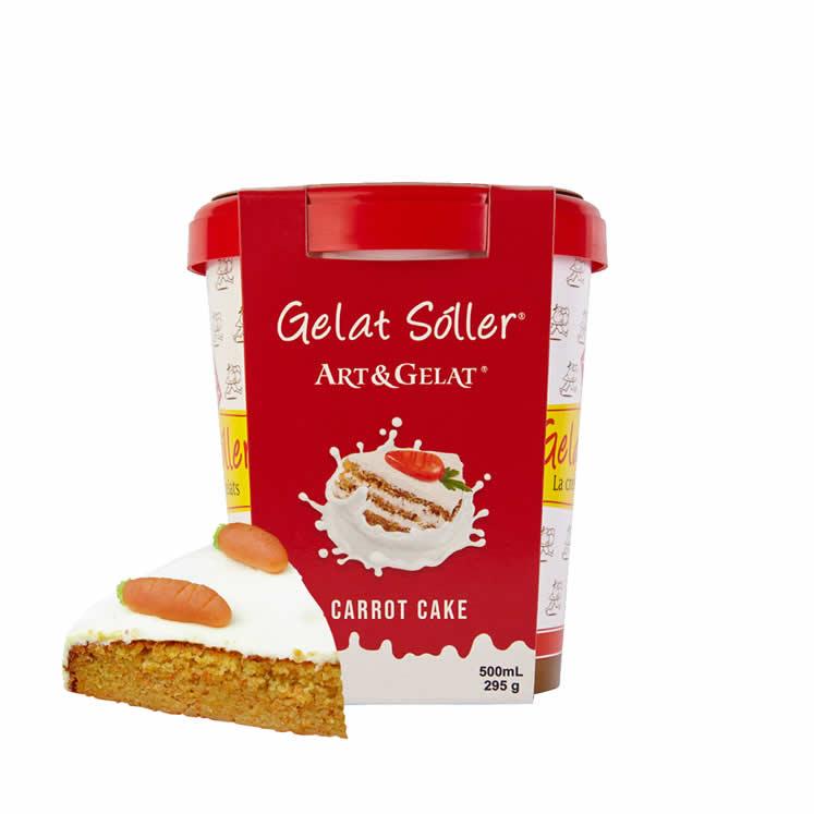 Eiscreme Geschmack Carrot Cake Gelat Sóller 500ml