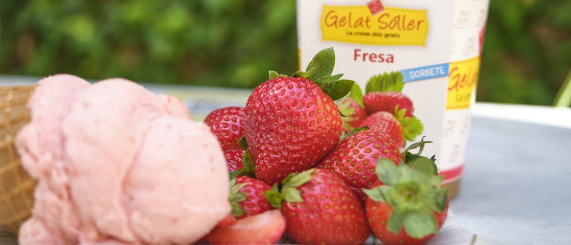 Gelat Sóller   Erdbeersorbet