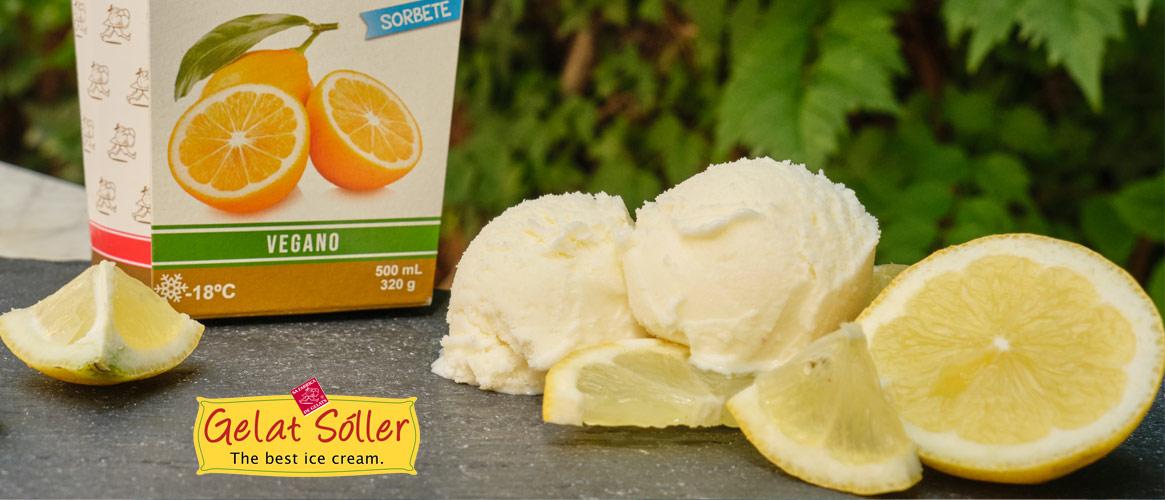 Gelat Sóller Sorbete Limon veganes Zitronensorbet  500ml