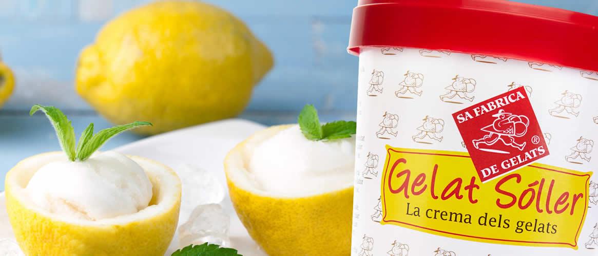 Sorbete Limon veganes Zitronensorbet Gelat Sóller 500ml