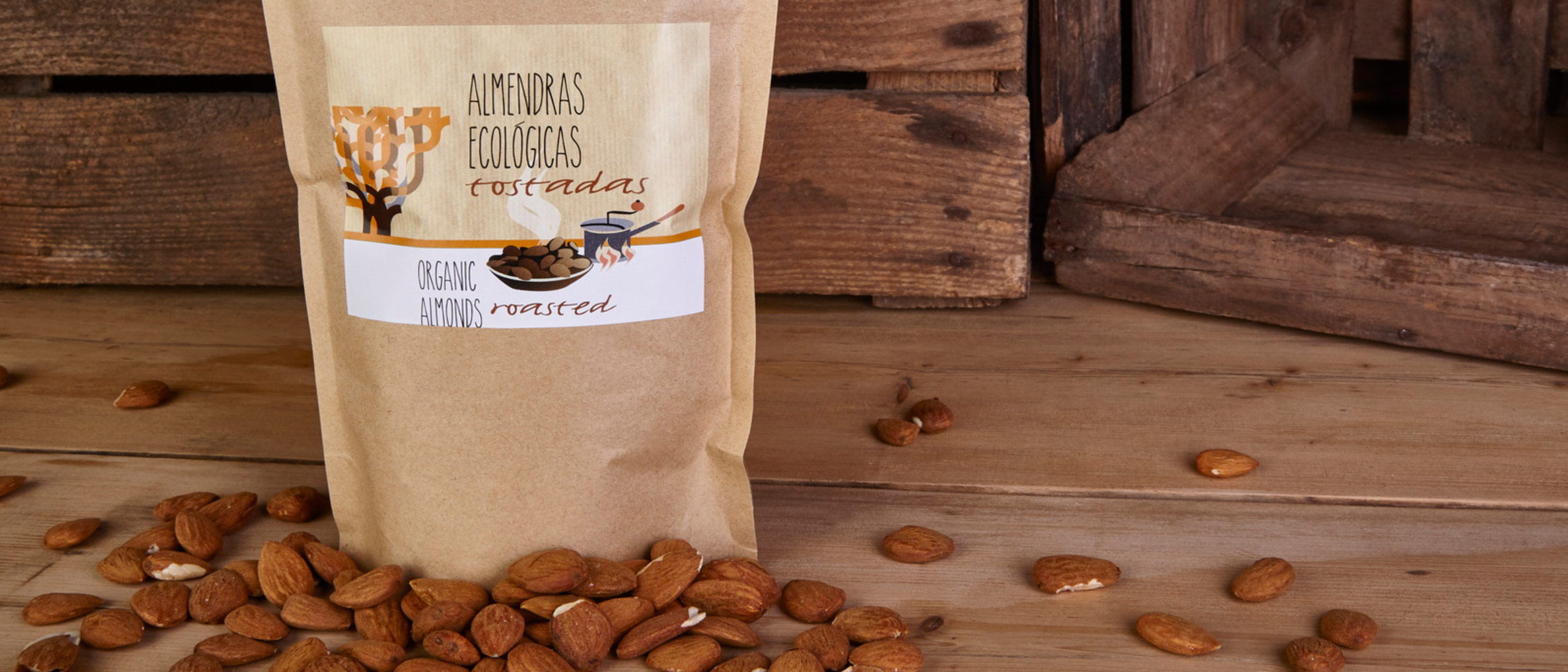 Mallorcafruits Organic Roasted Almonds 400g