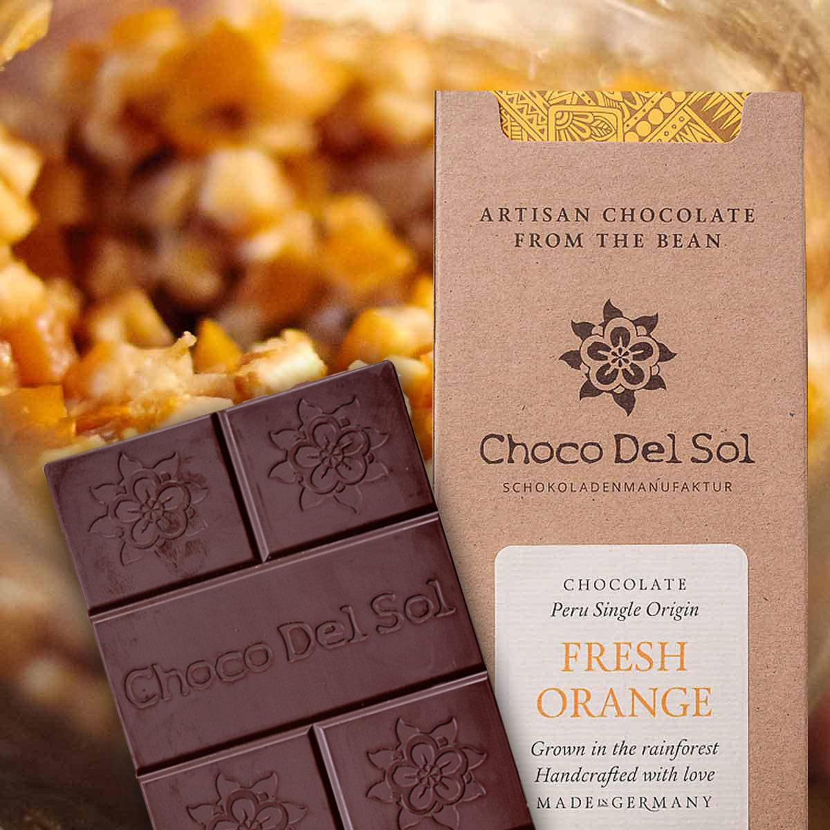 Choco Del Sol organic orange chocolate
