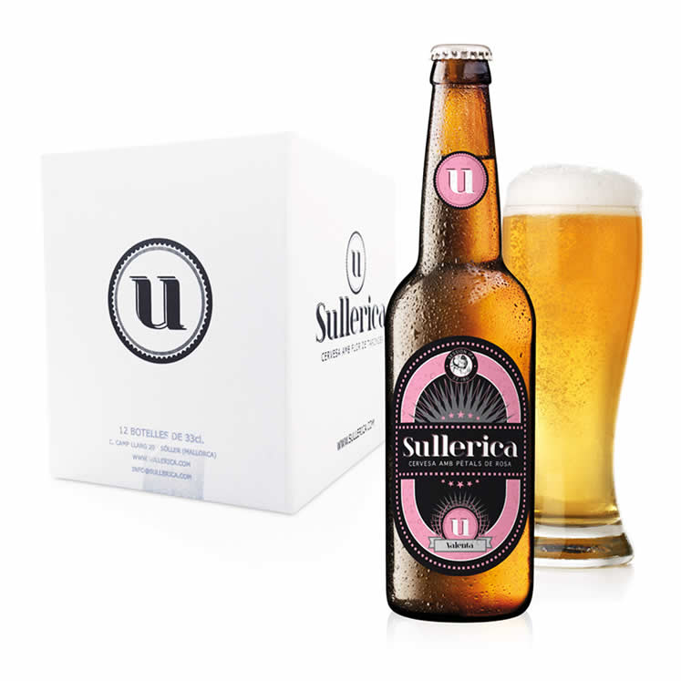 12 x Sullerica Valenta beer with rose blossom