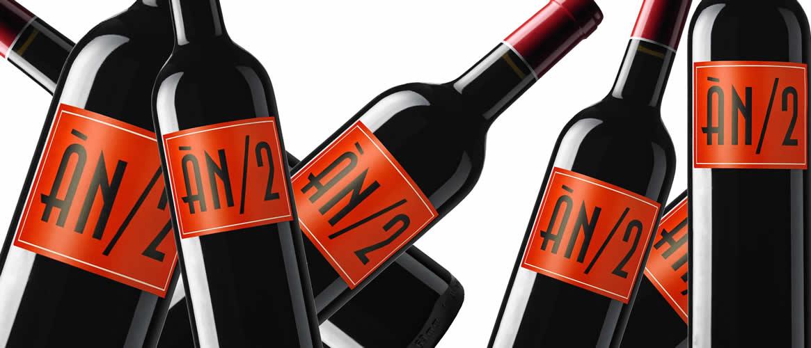 """""""ÂN 2"""". Bodegues Ànima Negra,Vi de la Terra Mallorca ,Caisse de 6 bouteilles."""