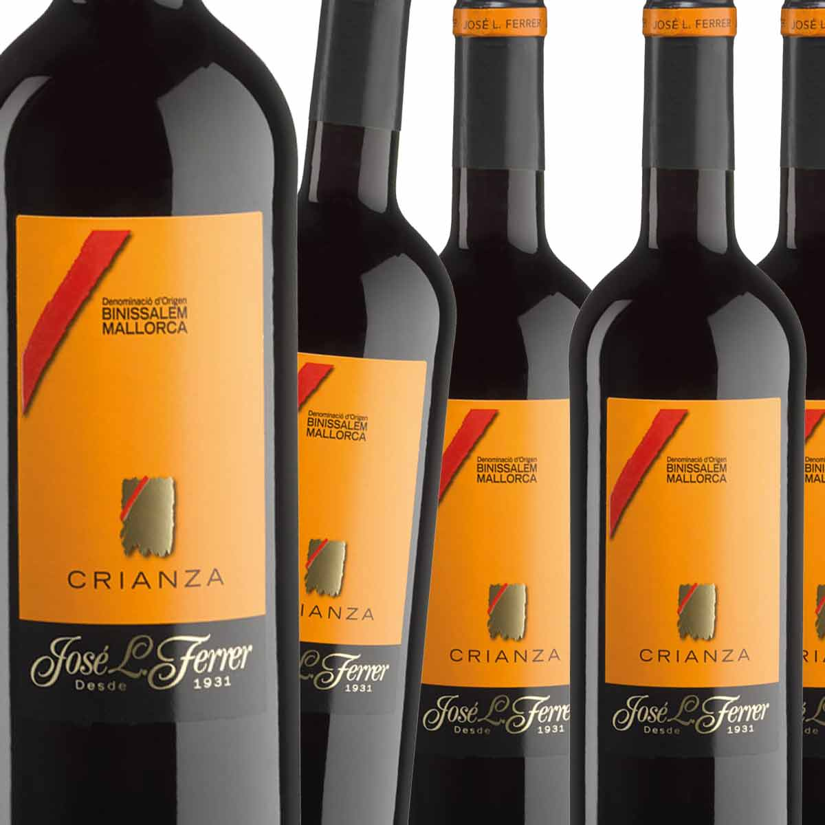 Box of 6, red wine Crianza, Bodegas Ferrer, D.O. Binissalem/ Majorca