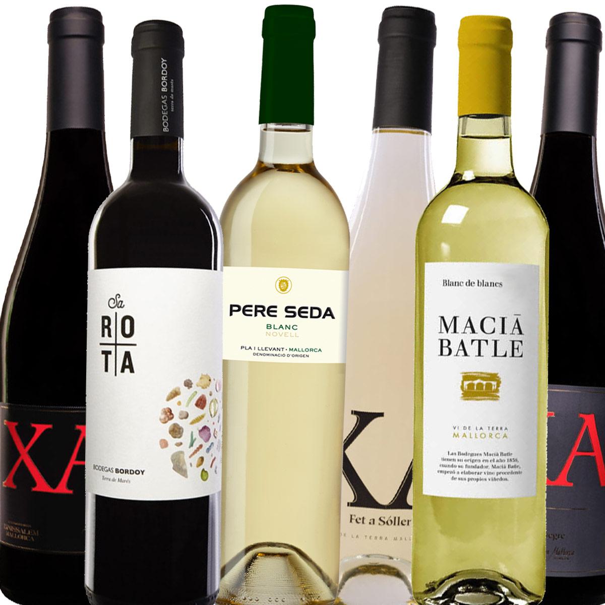 6 x Rotwein und Weißwein